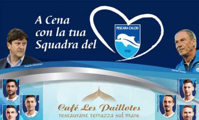 Pag1 con squadra Calcio Pescara