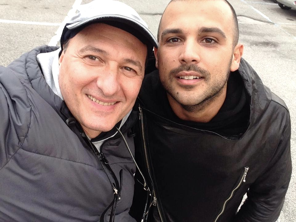 Alberto D'Onofrio e il dj Ilario Alicante