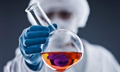 Scientist performing experiment