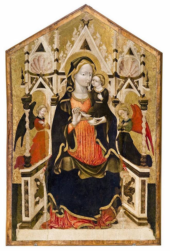 Alta Madonna in trono con Bambino e angeli