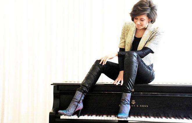 La cantante e pianista tedesca Olivia Trummer