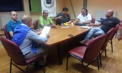 La presentazione con l'Assessore allo Sport Marco Cacciagrano
