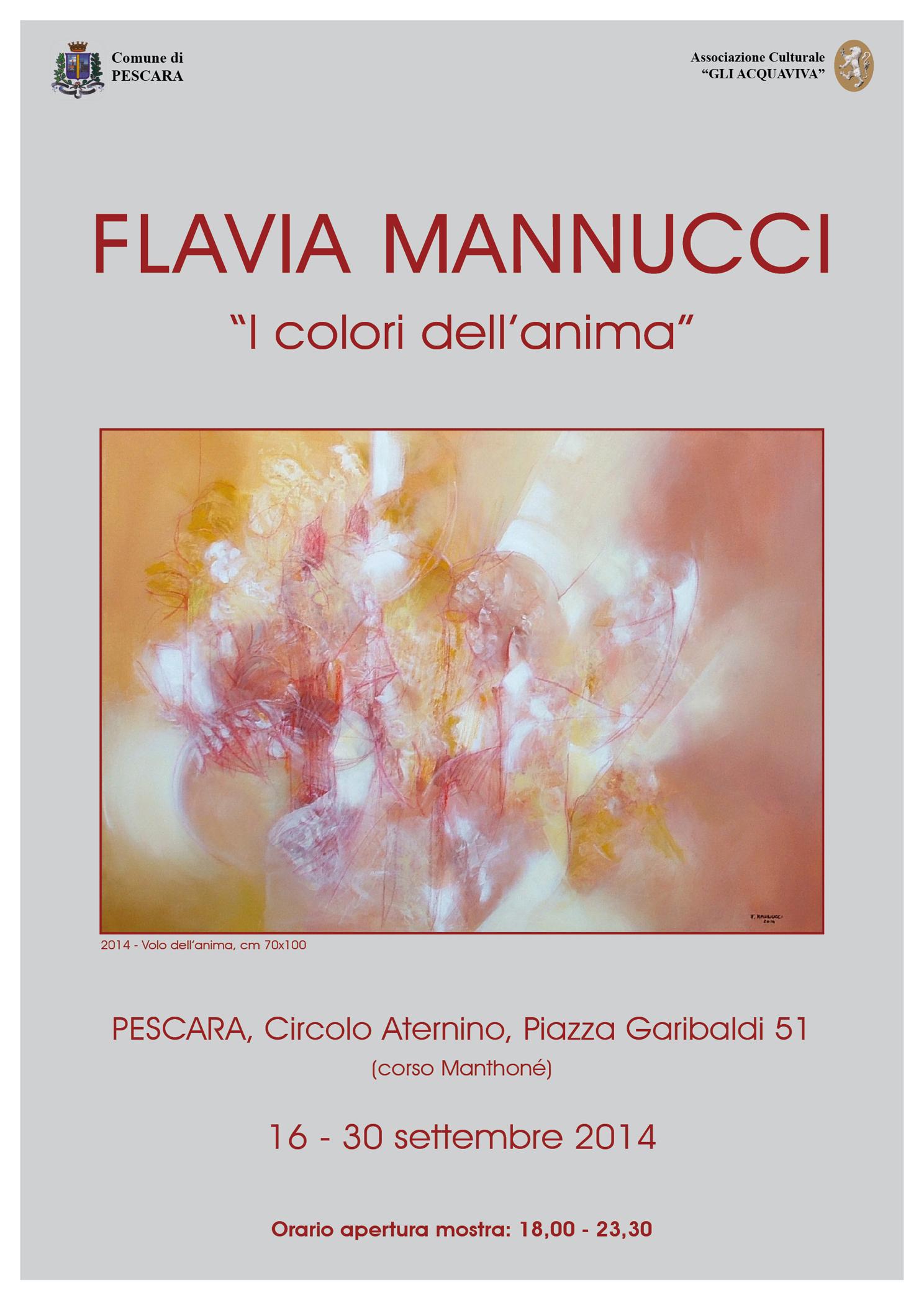Locandina mostra I colori dell'anima di Flavia Mannucci