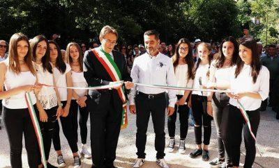Massimo Cialente e Donato Scipioni al taglio del nastro