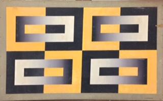ST olio su masonite 45x70 cm 1965