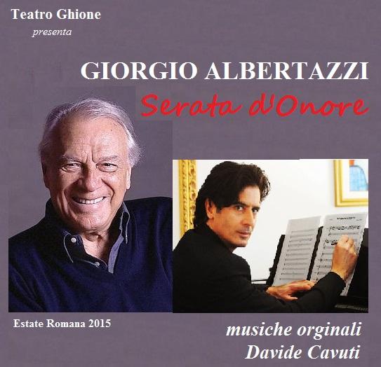 locandina ALBERTAZZI SERATA D'ONORE con Davide Cavuti